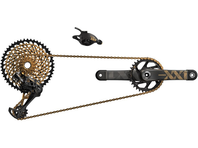 SRAM XX1 Eagle Schaltgruppenset 1x12 DUB Boost 34Z. 170mm gold